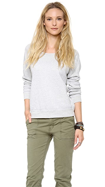 TEXTILE Elizabeth and James Patch Perfect Sweatshirt