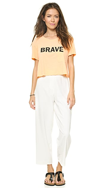 TEXTILE Elizabeth and James Brave Cropped Selena Tee