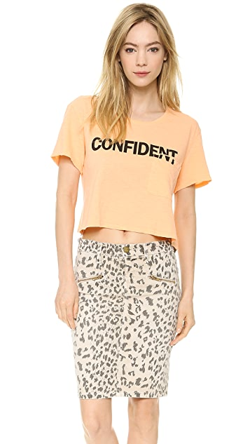 TEXTILE Elizabeth and James Confident Cropped Selena Tee