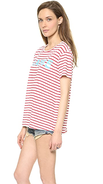 TEXTILE Elizabeth and James France Stripe Bowery Tee