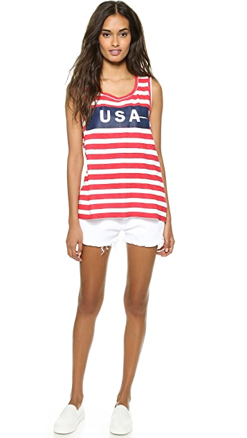 TEXTILE Elizabeth and James Striped USA Dean Tank