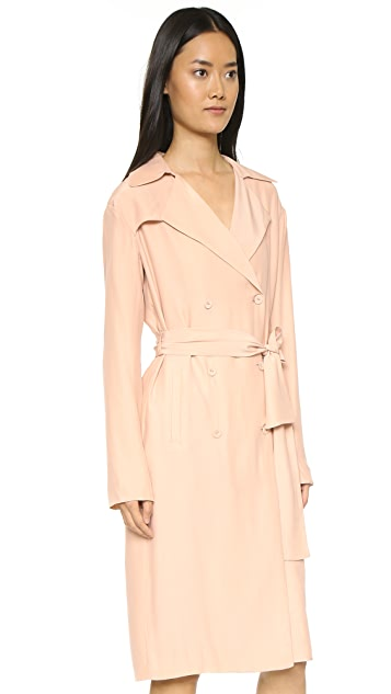 TY-LR The Suburban Silk Trench Dress