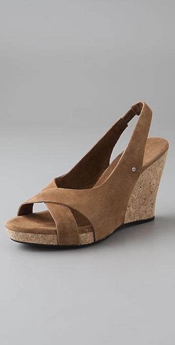 038d2cfe4b9 UGG Australia Hazel Cork Suede Sandals