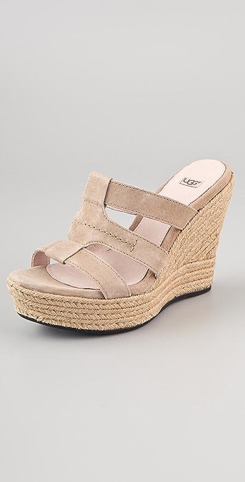 UGG Australia Tawnie Suede Wedge Sandals