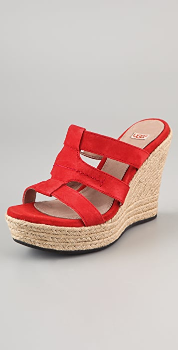 UGG Australia Tawnie Suede Wedge Sandals ...