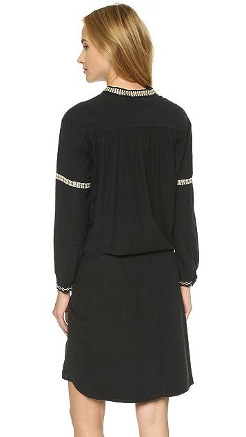 Ulla Johnson Lizzie Embroidered Silk Dress