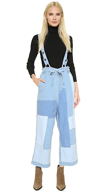 Ulla Johnson Rie Patchwork Jeans