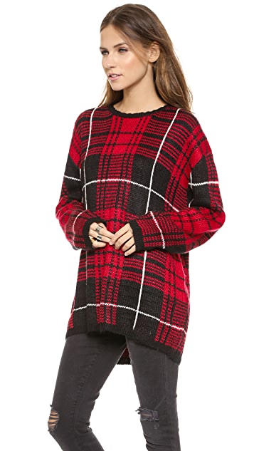 UNIF Jumbo Plaid Sweater