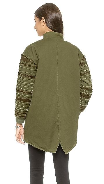 UNIF Strips Bomber Jacket