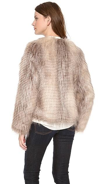 Unreal Fur Furry Floss Faux Fur Jacket