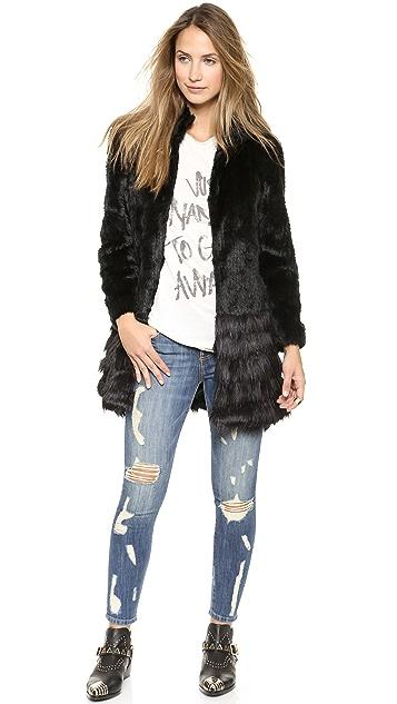 Unreal Fur A-Capella Coat
