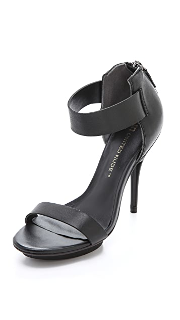 United Nude Grid Sandals with Ankle Strap