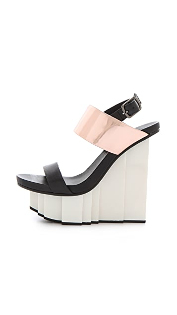 United Nude Rockerfeller Wedge Sandals