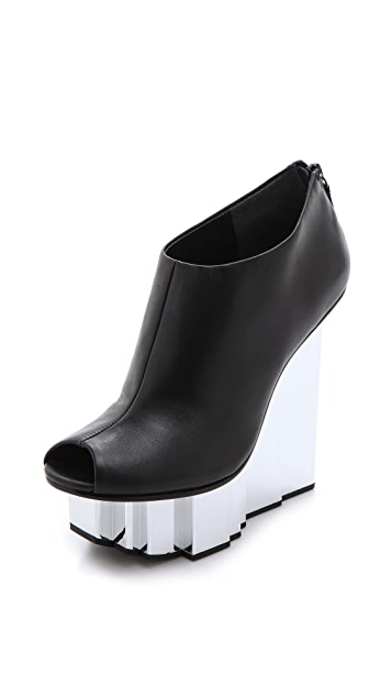 United Nude Rockerfeller Peep Toe Booties