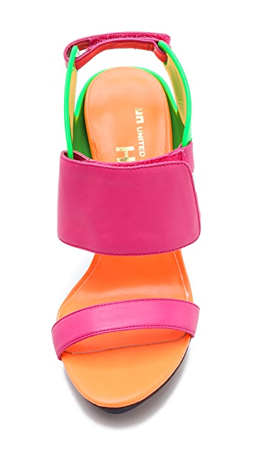 United Nude Eros Curved Neon Sandals