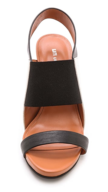 United Nude Sense Colorblock Sling Sandals