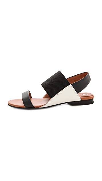 United Nude Sense Lo Colorblock Flat Sandals