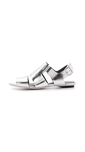 United Nude Kim Low Metallic Flat Sandals