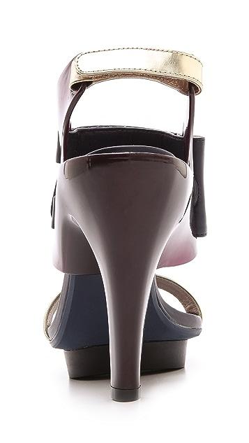 United Nude Eros Curved Heel Sandals