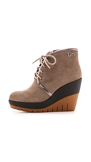 United Nude Lucy Faux Fur Lined Suede Booties