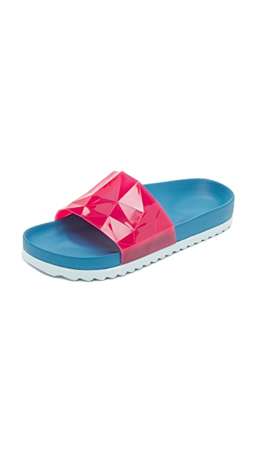 United Nude Lo Res Earth Jelly Slide Sandals