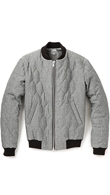 United Stock Dry Goods Quilted Bomber Jacket