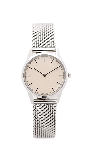 Uniform Wares C35 Polished Steel Watch