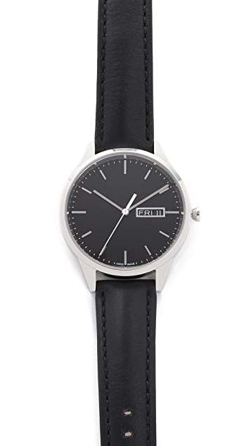Uniform Wares C40 Polished Steel Watch