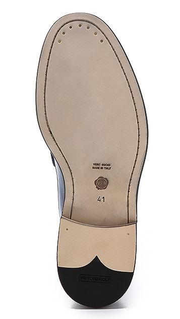 Viktor & Rolf Leather Loafer Shoes