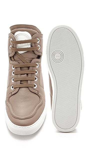 Viktor & Rolf Leather High Top Sneakers