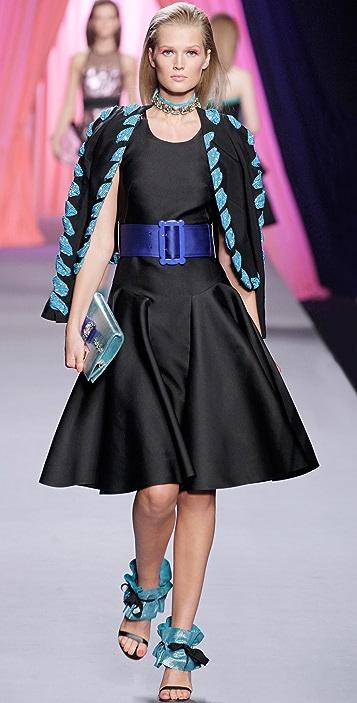 VIKTOR & ROLF Full Skirt Dress with Belt