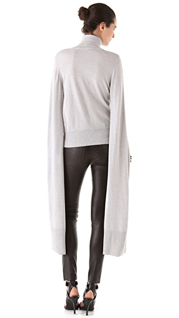 VIKTOR & ROLF Slit Exaggerated Sleeve Turtleneck Sweater