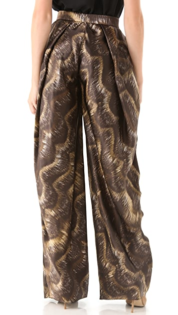 VIKTOR & ROLF Printed Full Leg Trousers