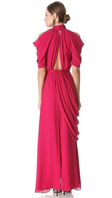 VIKTOR & ROLF Short Sleeve Georgette Gown