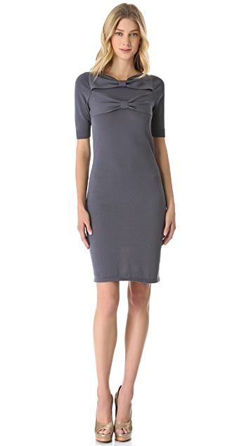 VIKTOR & ROLF Bow Cotton Knit Dress