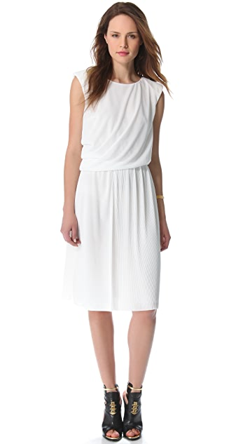 VIKTOR & ROLF Sleeveless Pleated Jersey Dress