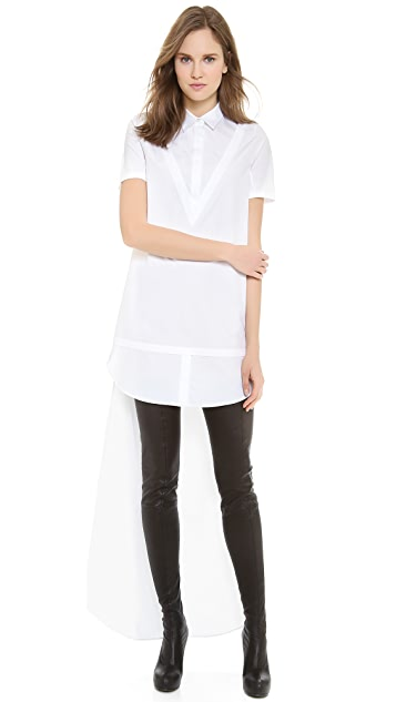 VIKTOR & ROLF Short Sleeve High Low Dress