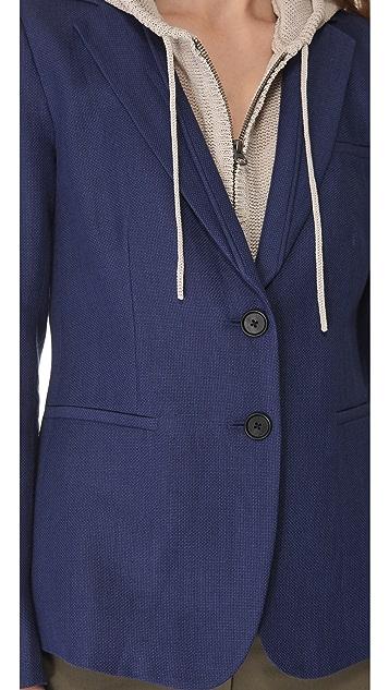 Veronica Beard The Jacket with Knit Hood Dickey