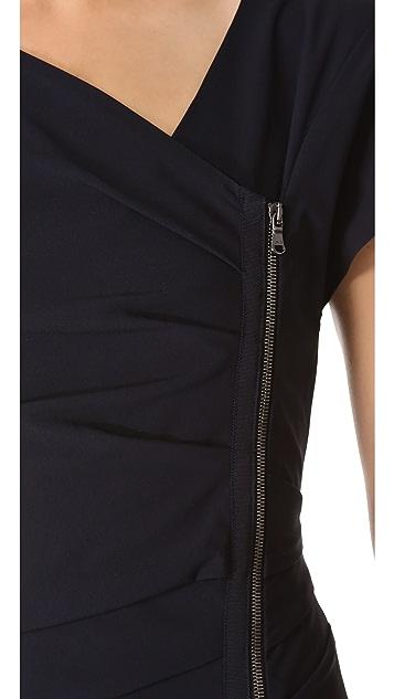 Veronica Beard Short Sleeve Zip Up Dress