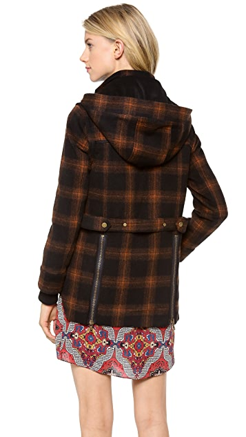 Veronica Beard Fading Plaid Coat