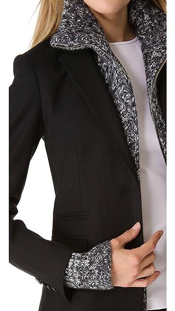 Veronica Beard Jacket with Turtleneck Sweater