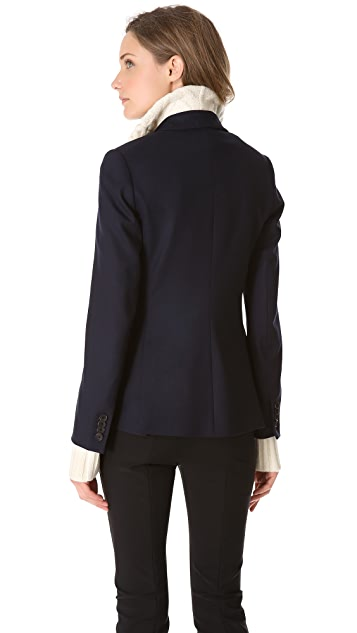 Veronica Beard Jacket with Turtleneck Sweater