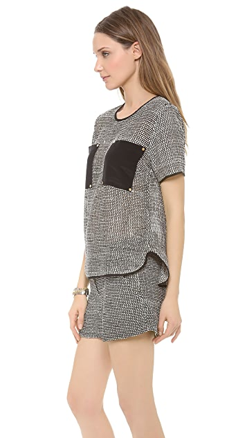 Veronica Beard The Patch Pocket Top