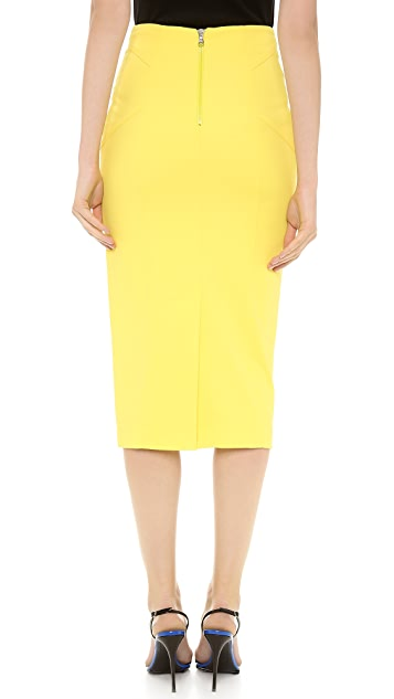 Veronica Beard Cotton Scuba Pencil Skirt