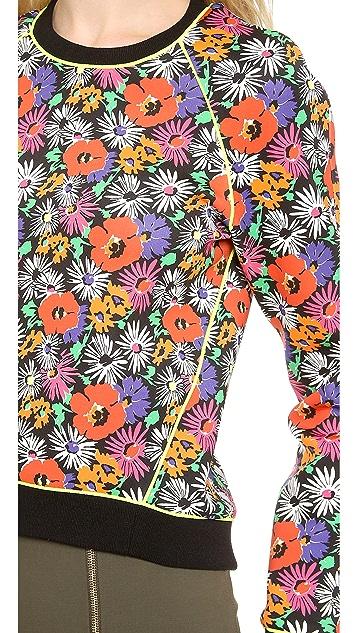 Veronica Beard Hothouse Floral Scuba Sweatshirt