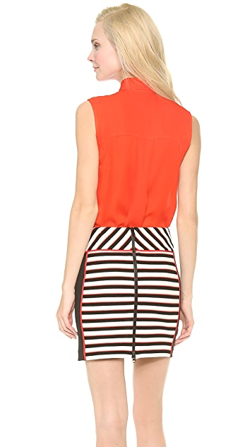 Veronica Beard Sleeveless Solid Silk Top