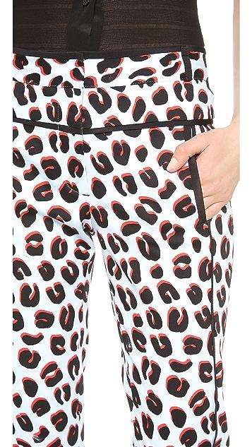 Veronica Beard 3D Leopard Skinny Trousers