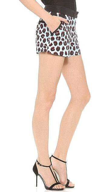 Veronica Beard 3D Leopard Sport Shorts