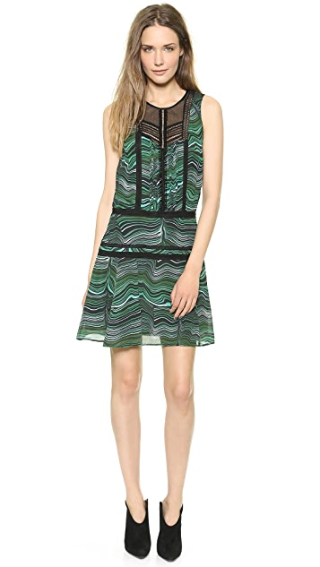 Veronica Beard Malachite Lace Inset Dress