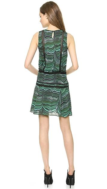 Veronica Beard Malachite Lace Inset Dress